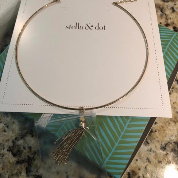 Stella & Dot Jewelry - Stella and Dot Gold Choker with tassel